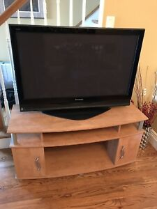 Awesome 42in  plasma tv and entertainment unit
