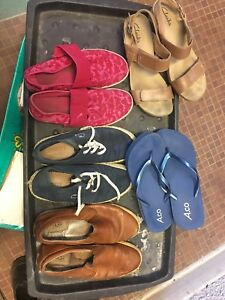 ladies used shoes   Lacoste-UGG- puma - Clark's - montrail