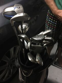 WILSON STAFF DI9 full set of irons and two Taylor made burner hybrids