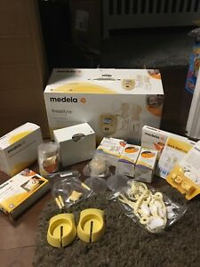 Medela double breast pump in a box