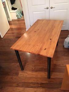Large ikea solid pine desk