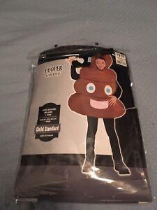 Emoji poop Halloween costume - kids size medium