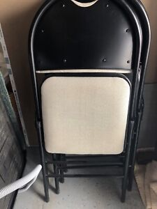 Brand new folding cushioned chairs