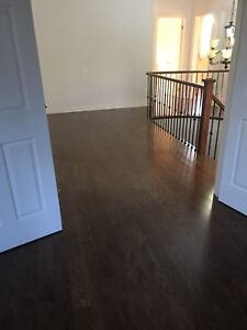 Laminate installation .$1 per sqf Hardwood $1.45 cent