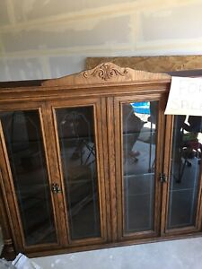 Table and China cabinet