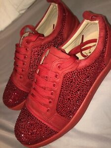 Louboutin Red low top sneakers