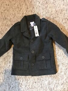 Boys 4t pea coat - new