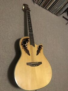Electric Acoustic Ovation, Hollow Body Electric Aria,  & Case