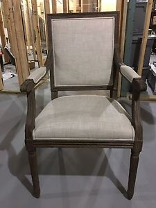 VINTAGE FRENCH SQUARE FABRIC ARMCHAIR - Restoration Hardware