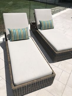 Synthetic Rattan sun lounges