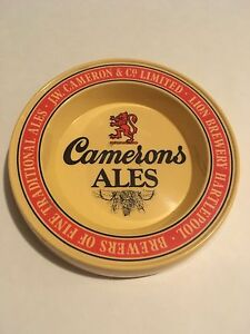 Vintage Cameron's Ales Plastic Tip Tray - Made in England