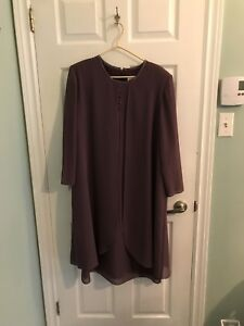 Taupe women dress mint condition 18 size