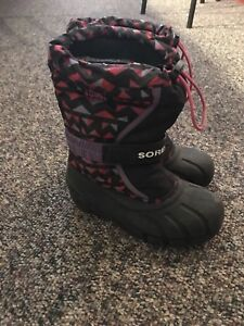 Size 1 girls Sorel winter boots