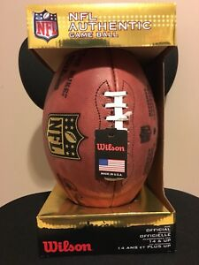 "NFL official game ball. Wilson ""The Duke"""