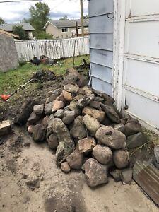 Big pile of river rocks.