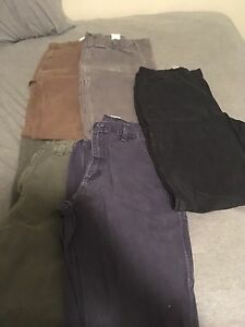Five pairs of Carhartt Pants