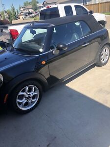 2013 Metallic Black convertible Mini Cooper