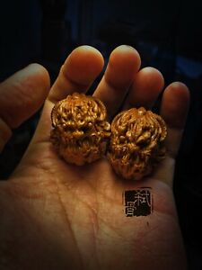 Artiste SHIGU gravure de noix gravure à la main