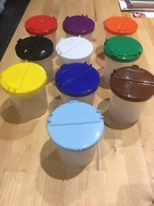 Coloured Paint Containers