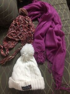 Woman winter hat and scarf