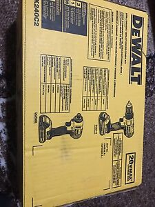 20V DEWALT DRILL SET BRAND NEW IN BOX IMPACT AND HAMMER DRILL