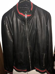 Gucci men's leather jacket small