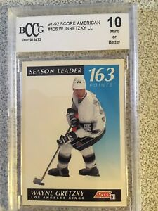 Wayne Gretzky - Beckett Graded Mint 10 Cards
