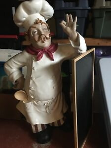 Italian Chef statue.  Stands 3 feet