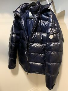 Moncler Maya sizes 3, 4, and 5 black and navy blue