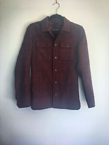 Banana Republic Heavy Flannel Plaid Red Shirt - XS - Men's