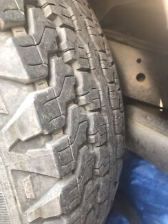 5 wheels and tyres for sale 265/75/16 suit 4x4 80% tread 16x8 6x139.7