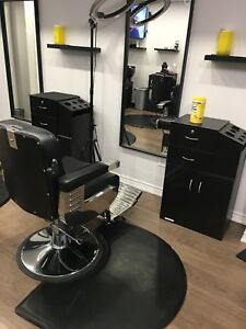 Barbers chairs, shampoo station and barber cabinets for sale
