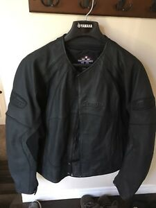 Icon stealth leather motorcycle jacket