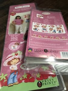 Strawberry Shortcake theme decals, sheet, pillow and curtains