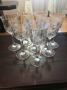 8 crystal wine glasses