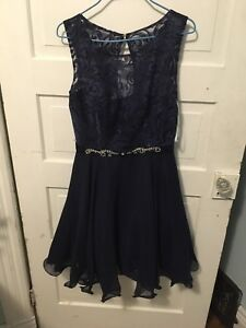 Navy XS Elle Couture dress