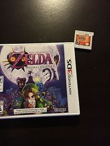 3DS XL with Pokemon sun (Has case) and majoras mask