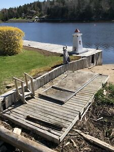 16 1/2 foot Dock Float with Ramp for pickup only