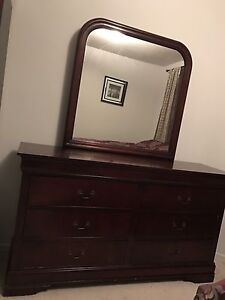 Dresser, mirror and night stand
