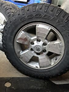 Set of four 6 bolt Toyota Tacoma Rims with tires