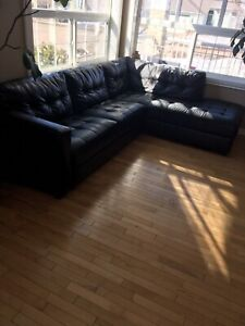 Free sectional sofa bonded Leather
