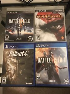 Selling Battlefield 1 and Fallout 4 ps4 ($30)