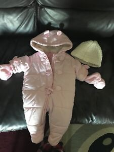 Baby girl Snowsuit and hat
