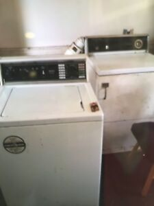 Washer and drier / frig and stove
