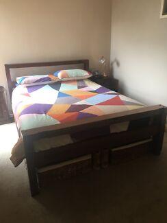 Queen Size Redgum Bed