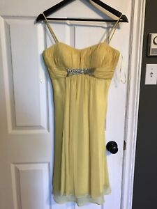 Size 4 cocktail length chiffon dress