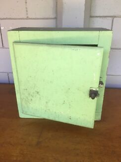 Retro vintage timber bathroom cabinet