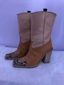 Pegabo all leather ladies cowboy boots