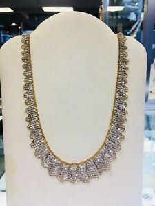 14K Necklace w/ Diamond Etching