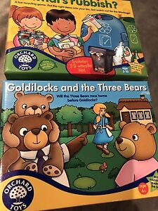 Jeux Goldilocks and the Three Bears and What's rubbish